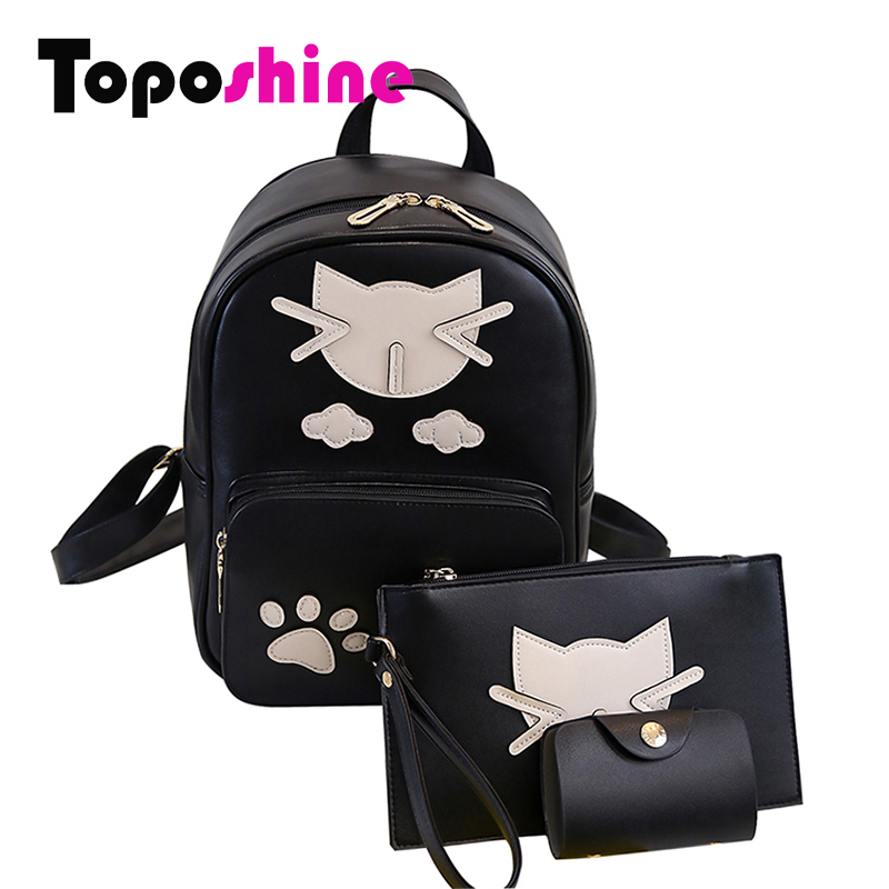 Toposhine 2017 Fashion Cat Women Backpack For Girls Backpacks  Backpacks Female School Bag Fashion Girls Bags Lady Backpack 1571<br><br>Aliexpress