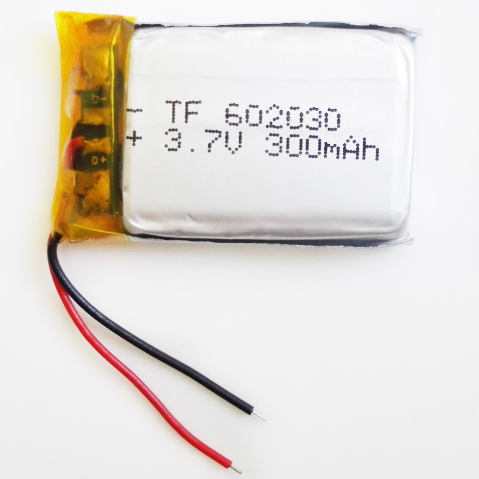 Wholesale 100 pcs 3.7V 300mAh Lithium Polymer LiPo Rechargeable Battery 602030 For Mp3 Mp4 PAD DVD E-book bluetooth smart watch 2