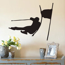 EHOME Ski Stickers Kids Room Decor Vinyl Removable Wall Stickers Home Decoration Sports Wall Decals(China)
