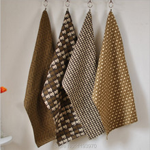 Brown Color Printed Letter Leaf Cotton And Linen Place Mat Home Restaurant Decoration Eat Mat 3004CD