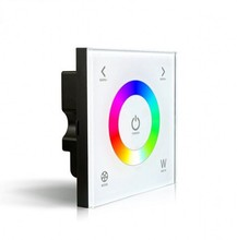 D4 Touch Led RGBW Controller DC12-24V 4A*3CH Output Glass Touchable Wall Mount RGBW Led Full Color Controller 5 YEAR WARRANTY(China)