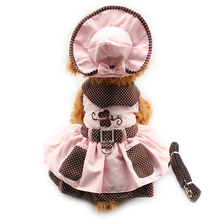 Armi store Butterfly Pattern Dog Dresses Dogs Princess Dress 6071052 Pet Puppy Supplies ( Dress + Hat + Panties + Leash = 1set