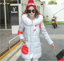 Women Hooded Winter Down Jacket Plus Size Lovely lady down jackets Grils Christmas Coat