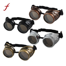 Steampunk Goggles 2017 New fashion Arrival Vintage Round Mirror Style  Welding Punk Glass Cosplay Freeshipping&Wholesale Eyewear