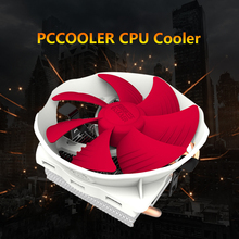 PCCOOLER 4 Heatpipes Radiator Quiet 3pin Mini CPU Cooler Heatsink Fan Cooling with 120mm Fan for Desktop Computer(China)