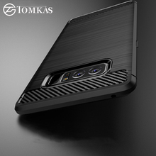 TOMKAS Case For Samsung Galaxy Note 8 Case Carbon Fiber Phone Cover Shell For Samsung Galaxy Note8 Luxury Slim Protective Cover(China)