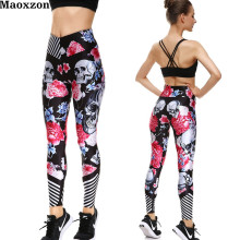 Buy Maoxzon Womens Skull Print Sexy Workout Fitness Slim Leggings Trousers Woman High Waist Gymnasium Jogger Elastic Skinny Pants XS for $11.84 in AliExpress store