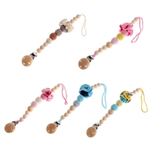 Buy Baby Infant Wooden Bead Flowers Pacifier Chain Toddler Dummy Pacifier Soother Nipple Flower Wood Chain Clip Holder for $3.39 in AliExpress store