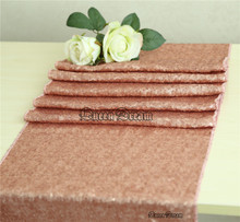Modern Table Runner 13''x90'' Sparkly Blush Sequin on Sale
