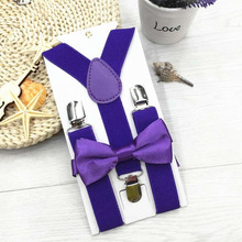 NEW High Quality Bowtie Boys Kid Suspender Y-Back Adjustable Elastic Boy Suspenders Bow Tie Kids girl braces 13 Colors tracking