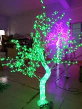 Free ship 5ft 1.5M LED Christmas New year party holiday LED Light Crystal Cherry Blossom Tree Green Color waterproof IP65 NEW(China)