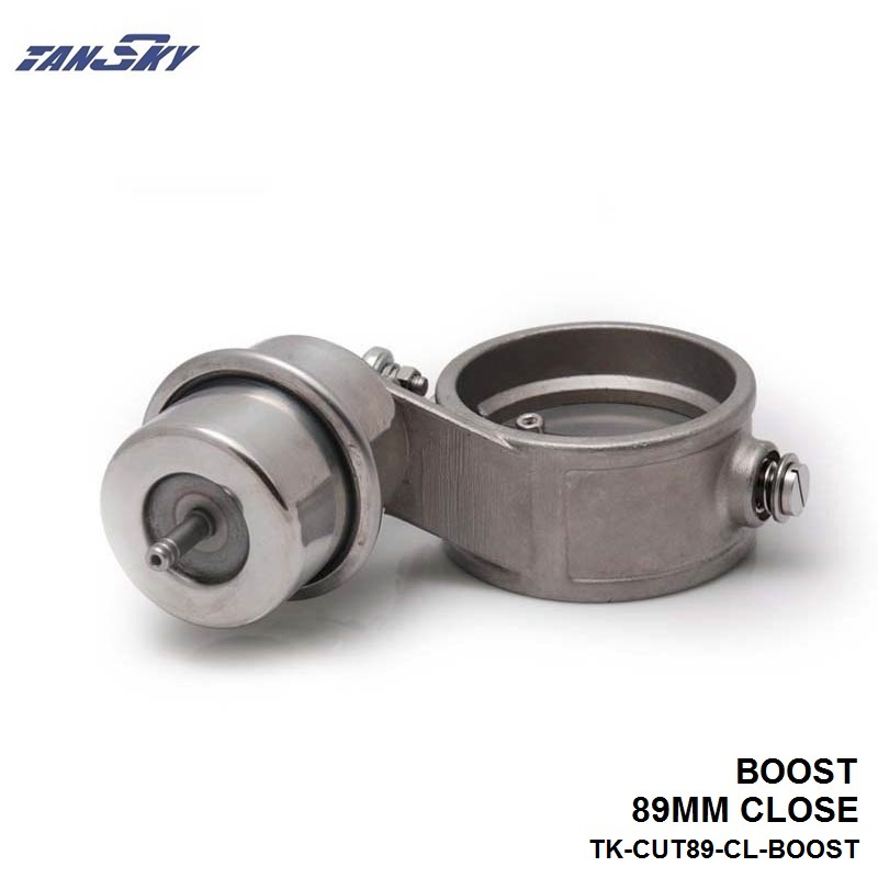 TANSKY -NEW Boost Activated Exhaust Cutout/Dump 89MM CLOSE Style Pressure: about 1 BAR For Ford Focus 1.8/2.0 TK-CUT89-CL-BOOST