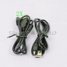 2 X USB Charger Cable for Nokia N73 N95 E65 6300 70cm Z17 Drop ship(China)