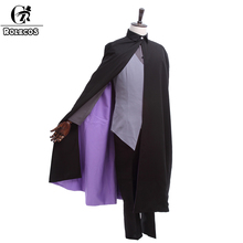 ROLECOS New Anime Naruto the Movie Uchiha Sasuke Cosplay Costume With Cloak Men's Suit Halloween Costumes Custom Made