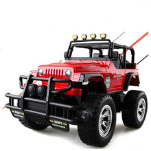 Remote Control Car High Quality one - touch switch door remote control off - road vehicle crash charge simulation car boy rc car