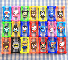 3D Cute Cartoon Soft Silicone Mobile Phone Bag Case Cover For Samsung Galaxy Grand Duos i9082 i9080 &Neo I9060 For myPhone Fun 4