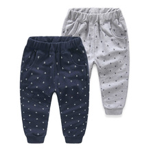 Children Clothing Kids Anchor Print Casual Pants For Boy Spring Autumn Toddler Boys Pencil Pants 2016 Baby Cotton Sport Trousers(China)