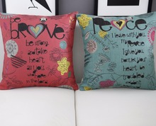 Cute cartoon pillow ,Love Proverbs cushion ,Linen pillowcase,cushion home decor sofa cushion,decorative Pillows
