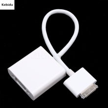 Kebidu VGA Video Cable 30pin Adapter cable for iPad 3 2 1 for iPhone 4 4S 4G for iPod Touch for iPhone4 HDTV Monitor(China)