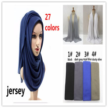 10pcs/lot Elastic jersey viscose head wraps plain solid muslim hijab women scarf shawls fashion wraps bandana free shipping(China)