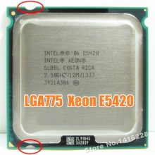 works on LGA 775 motherboard Xeon E5420 Processor 2.5GHz 12M 1333Mhz close to Core 2 Quad Q6600 cpu(China)