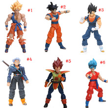 6Style Box 13-17cm S.H.Figuarts Super Saiyan Son Goku Vegetto Vegeta Trunks PVC Action Figure Dragon Ball Z Figure SHF Model Toy