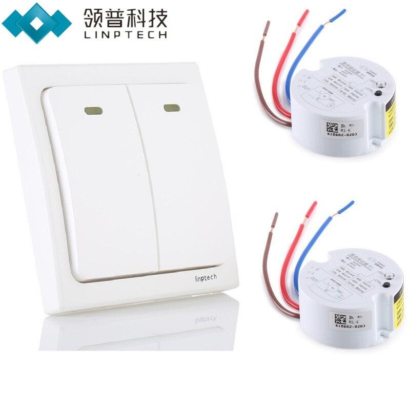 Linptech K2 Wireless Remote Control Light Switch kit no need battery Smart home switch Digital remote light control kit<br>