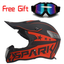 motorcycle helmet cross helmet DOT approved every rider affordable helmet ATV Dirtbke off road motocross helmet free goggles(China)