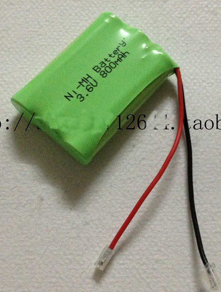 free ship ni-mh rechargeable battery pack 3.6V 800mah nimh AAA battery pack(China (Mainland))