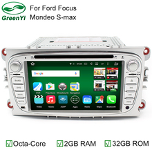 2 Din Octa Core RAM 2GB/32GB Android 6.0 PC Car DVD GPS For Ford Focus C-MAX Galaxy Mondeo Galaxy Kuga With 4G WiFi Stereo Radio