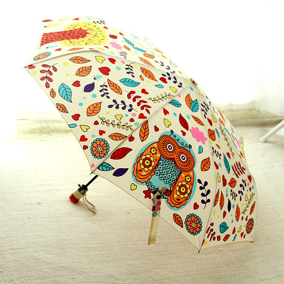 d7f94844a3fd Fully Automatic Cartoon Women Umbrellas Rain Owl 3 Folding Outdoor Animal  Windproof Umbrella Rain Gear Parasol Free Shipping - us297