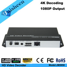 H.265 H.264 Decoder Replace VGA&HDMI output repleace topbox &PC transmitter IP encoder decoder(China)