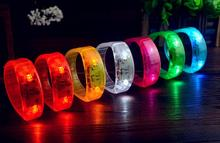voice control led bracelet sound activated glow bracelet for party clubs concerts dancing christmas