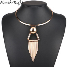 Match-Right Women Necklace Tassel Statement Necklaces Pendants Trendy Jewelry Chokers Necklace Women Accessories NL566