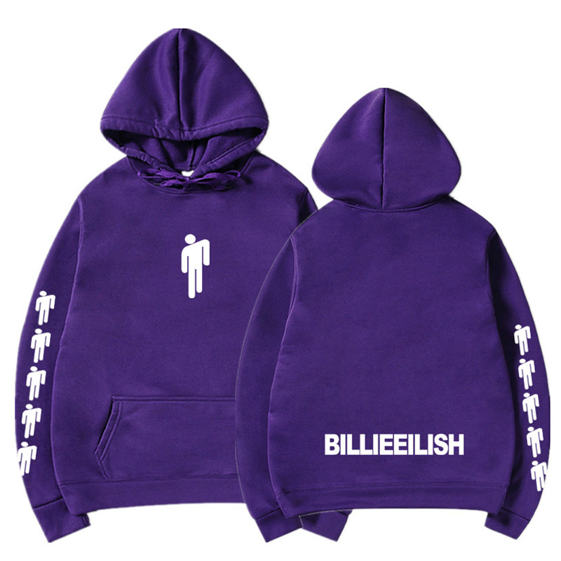New Hot Billie Eilish Hoodie Men Black Cotton Hoodie Couple Billie Eilish Sweatshirt Simple Keep Warm Women/men Hoodie Clothes 12