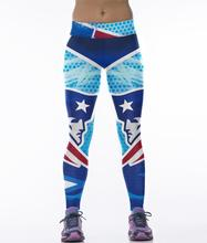New England Patriots 3D Printed Leggings Jeggings Gymnastics Clothing For Women Fitness Pants Blue Punks Rock Gothic Legin Pant(China)