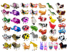 20pcs/lot Mix Animal Balloons Walking Pets Dog Cat Balloon  Inflatable Globos Birthday Party Decorations kids Gift toy