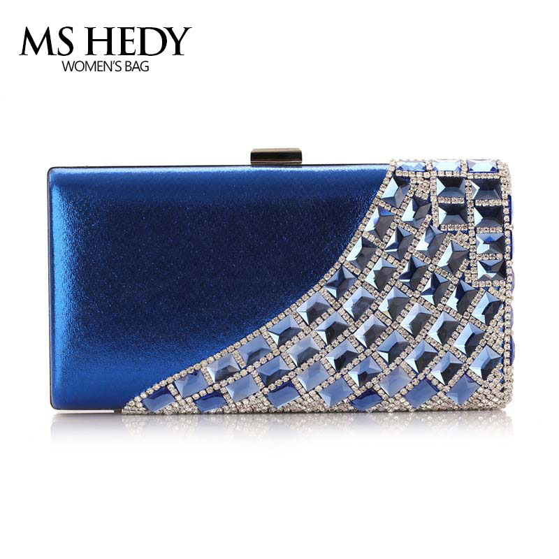luxury crystal rhinestones shoulder bag female eveing bag bridal wedding purse party hand bag single side diamonds dinner wallet<br>