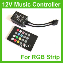Wholesale+Music IR 20key Remote Sound Sensor Controller For 3528 5050 RGB LED Strip(China)