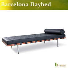 U-BEST high quality Black Barcelona Daybed,Genuine Leather Barcelona Daybed,Barcelona Style Daybed