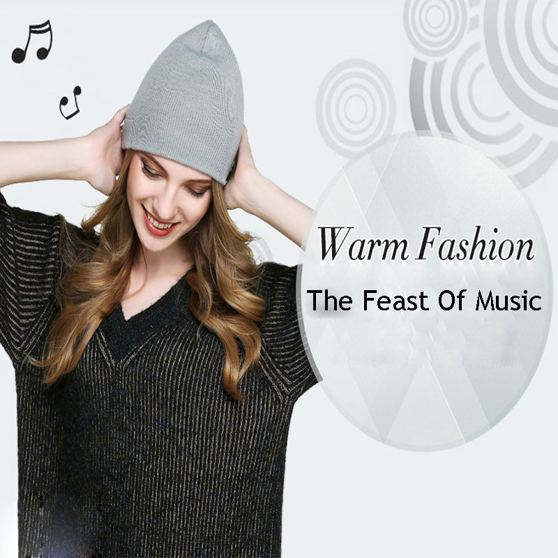 Headset wireless Beanie Knitted Winter Hat bluetooth smart caps speaker mic Music Cap Sports Soft Warmhats For Boy Girl Amp M5-3Одежда и ак�е��уары<br><br><br>Aliexpress