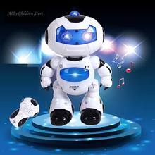 Remote Robot Control Toy Remote Control Musical Electronic Toy Walk Dance Lightenning Fun Gift Toys For Children(China)