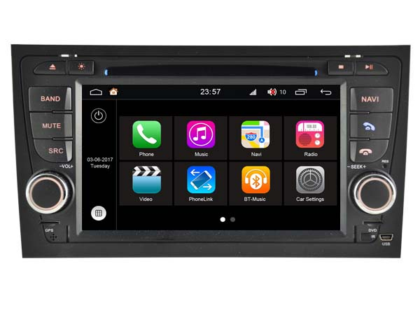 S190 Android 7.1 car dvd gps For AUDI A4/ S4/ RS4 (2002-2008) Car Audio player navigation head unit device BT WIFI 3G