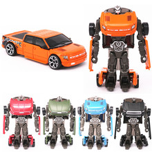 10cm Transformation Robot Toy Die cast Metal + Plastic Car Robot Action Figure Toys For Children NEW Truck Brinquedos Kids Toy