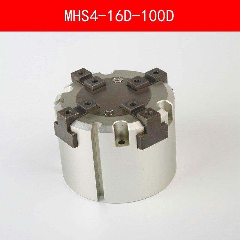 MHS4 16D 20D 25D 32D 40D 50D 63D 80D 100D Parallel Style Air Gripper 4 Finger Double Action Penumatic Cylinder Bore 16-100mm<br>