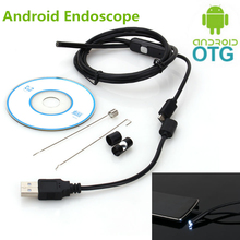 5.5mm Focus Camera Lens 1M/1.5M/2M/3.5M/5M Waterproof 6 LED Android Endoscope Mini USB Cable Endoscope Inspection Camera(China)