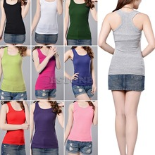 klv Hot sale Sexy Women's Lady Casual Vest Tank Tops Sleeveless New Multi-Color