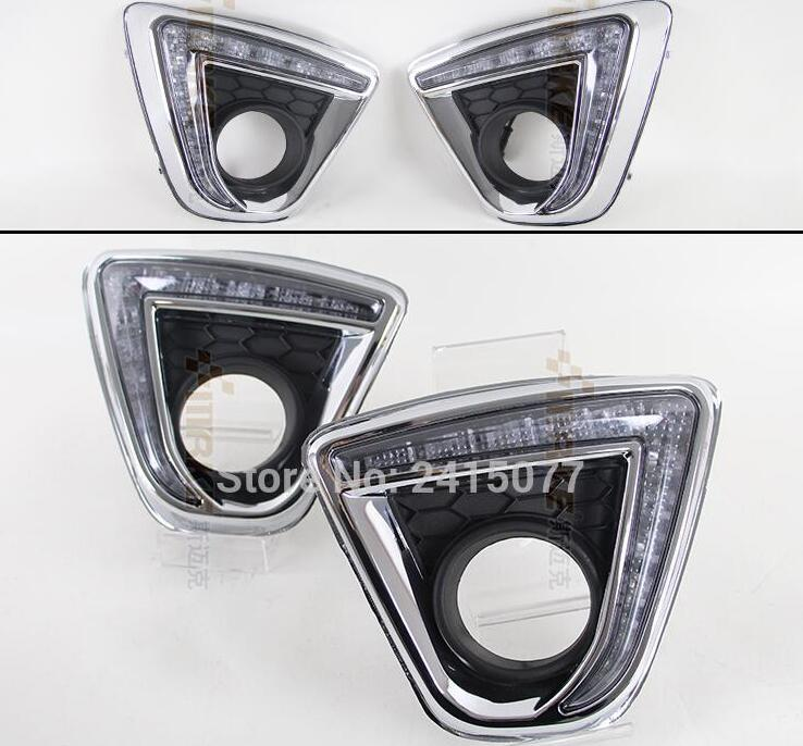 for Mazda CX-5 cx5 2012-2015 Turn off and dimming style relay E4 LED Car DRL Daytime Running Lights with fog lamp hole <br><br>Aliexpress