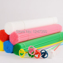 Latex Balloon Stick Rods 50pcs Plastic Balloon Accessories 40cm Balloon Holder Sticks Cup Wedding Decoration