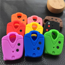silicone rubber car key cover case for PROTON Wira PROTON 415 PROTON 416 PROTON Persona 2button key(China)